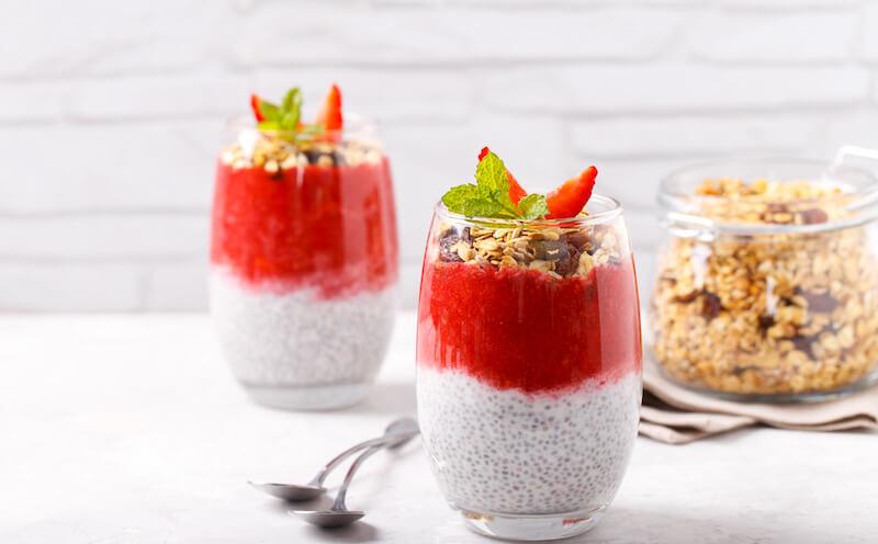 pudding au chia et aux fruits
