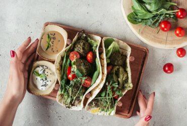 tortilla de falafels et graines germées